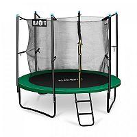Klarfit Rocketstart 250, 250 cm trampolína, vnútorná bezpečnostná sieť, široký rebrík, zelená