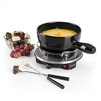 Klarstein Sirloin Raclette s fondue, keramický hrniec, 1200W, čierna farba