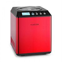 Klarstein Vanilla Sky, 180W, červená, zmrzlinovač s kompresorom, nehrdzavejúca oceľ, 2l