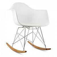 OneConcept Aurel, biela, hojdacia stolička, retro, PP sedadlo, brezové drevo