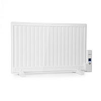 OneConcept Wallander, olejový radiátor, 800 W, termostat, olejové vyhrievanie, ultra plochý dizajn, biely