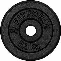 Fitforce NAKLADACÍ KOTÚČ2,5KG ČIERNY - Nakladací kotúč