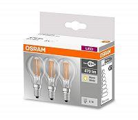 Osram SADA 3x LED Žiarovka VINTAGE P40 E14/4W/230V 2700K