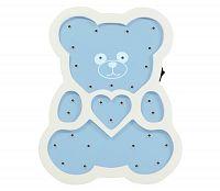 Polux LED Detská lampa LED/2xAA modrý medveď