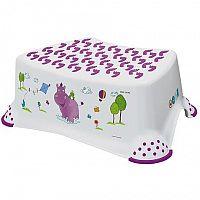 Keeeper Detská stolička Hippo, s protišmykovým povrchom, biela