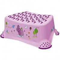 Keeeper Detská stolička Hippo, s protišmykovým povrchom, ružová