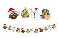TORO Girlanda 2,3 m; 12 ks ozdôb, vianočná sova