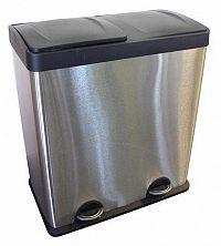 TORO Nerezový nášľapný kôš na triedený odpad TORO 60l