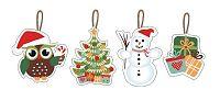 TORO Vianočné ozdoby 7-8 cm, 12 ks