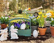 Veľká noc v záhrade: veselé kvetináče, štýlové osvetlenie, zaujímavé aktivity s deťmi