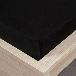 4home jersey prestieradlo čierna, 160 x 200 cm
