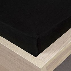 4home jersey prestieradlo čierna, 180 x 200 cm