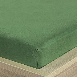 4Home jersey prestieradlo olivovozelená, 160 x 200 cm