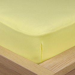 4Home Jersey prestieradlo s elastanom žltá, 160 x 200 cm
