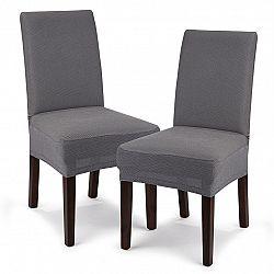 4Home Multielastický poťah na sedák na stoličku Comfort sivá, 40 - 50 cm, sada 2 ks