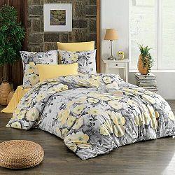 BedTex Bavlnené obliečky Alisa žltá, 220 x 200 cm, 2 ks 70 x 90 cm
