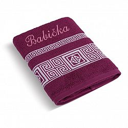 Bellatex Froté uterák 50x100 grécka kolekcia 155/022 s výšivkou Babička