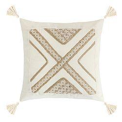 Bellatex Obliečka na vankúšik Peru béžová, 40 x 40 cm
