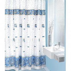 Bellatex Sprchový záves Mušle modrá, 180 x 200 cm