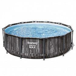 Bestway Nadzemný bazén Steel Pro MAX s filtráciou a schodíkmi, pr. 366 cm, v. 100 cm