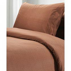 BO-MA Trading Obliečky Elisa, hnedá, 140 x 200 cm, 70 x 90 cm