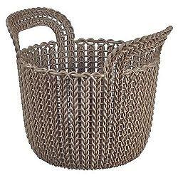Curver Úložný box Knit okrúhly 3 l, hnedá