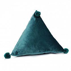 Domarex Vankúš pyramída Trevi Velvet zelená, 40 x 40 x 40 cm
