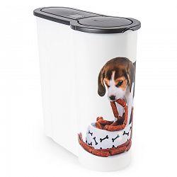 Dóza na krmivo pre psov Šteňa, 4 l, plast