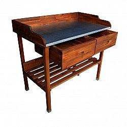 Drevený grilovací stolík Alan, 100 x 55 x 90 cm