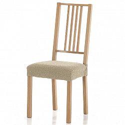 Forbyt Multielastický poťah na sedák na stoličku Petra béžová, 40 - 50 cm, sada 2 ks