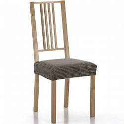 Forbyt Multielastický poťah na sedák na stoličku Sada hnedá, sada 2 ks