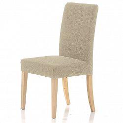 Forbyt Multielastický poťah na stoličku Petra béžová, 40 - 50 cm, sada 2 ks