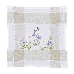 Forbyt Obliečka na vankúšik Jarné kvety, 40 x 40 cm