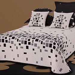 Forbyt Prehoz na posteľ Derby čiernobiela, 140 x 220 cm