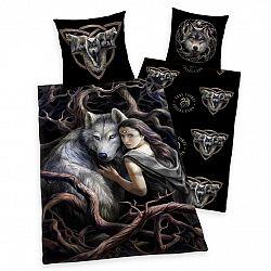 Herding Detské bavlnené obliečky Anne Stokes Collection Wolf, 135 x 200 cm, 80 x 80 cm