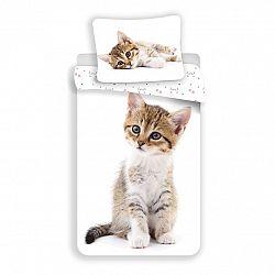 Jerry Fabrics Bavlnené obliečky Mačiatko white, 140 x 200 cm, 70 x 90 cm