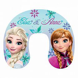 Jerry Fabrics Cestovný vankúšik Ľadové Kráľovstvo Frozen Anna and Elsa, 30 x 35 cm