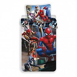 Jerry Fabrics Detské bavlnené obliečky Spiderman action, 140 x 200 cm, 70 x 90 cm