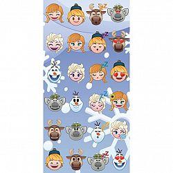Jerry Fabrics Osuška Emoji Ľadové kráľovstvo Frozen, 70 x 140 cm