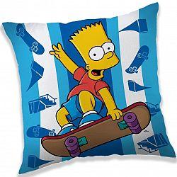 Jerry Fabrics Vankúšik The Simpsons Bart skater, 40 x 40 cm