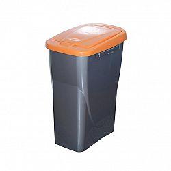 Kôš na triedený odpad 42 x 31 x 21 cm, oranžové veko, 15 l