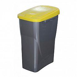 Kôš na triedený odpad 51 x 21,5 x 36 cm, žlté veko, 25 l