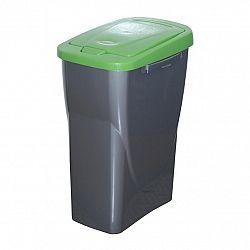 Kôš na triedený odpad 61,5 x 42 x 25 cm, zelené veko, 40 l