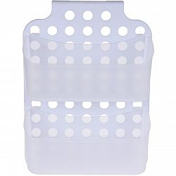 Kúpeľňový závesný košík, biela, 36 x 25 x 9 cm