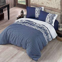 Kvalitex Bavlnené obliečky Canzone modrá, 140 x 220 cm, 70 x 90 cm
