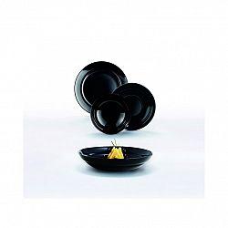 Luminarc 18-dielna jedálenská súprava ALEXIE, čierna