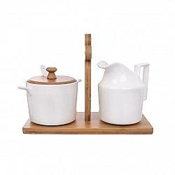 Orion Sada mliekovky a cukorničky so stojanom Bambu