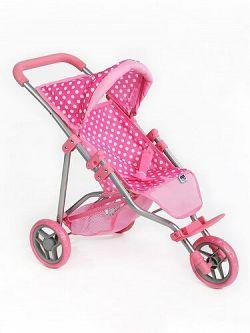 PlayTo Športový kočík pre bábiky Olívia svetloružová