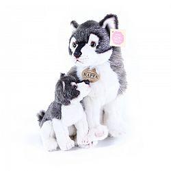 Rappa Plyšový vlk s mláďaťom, 27 cm
