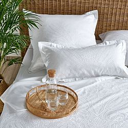 Stella Ateliers Damašková obliečka na vankúšik Reena biela, 80 x 80 cm